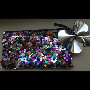 MAC Sequin Cosmetic Pouch
